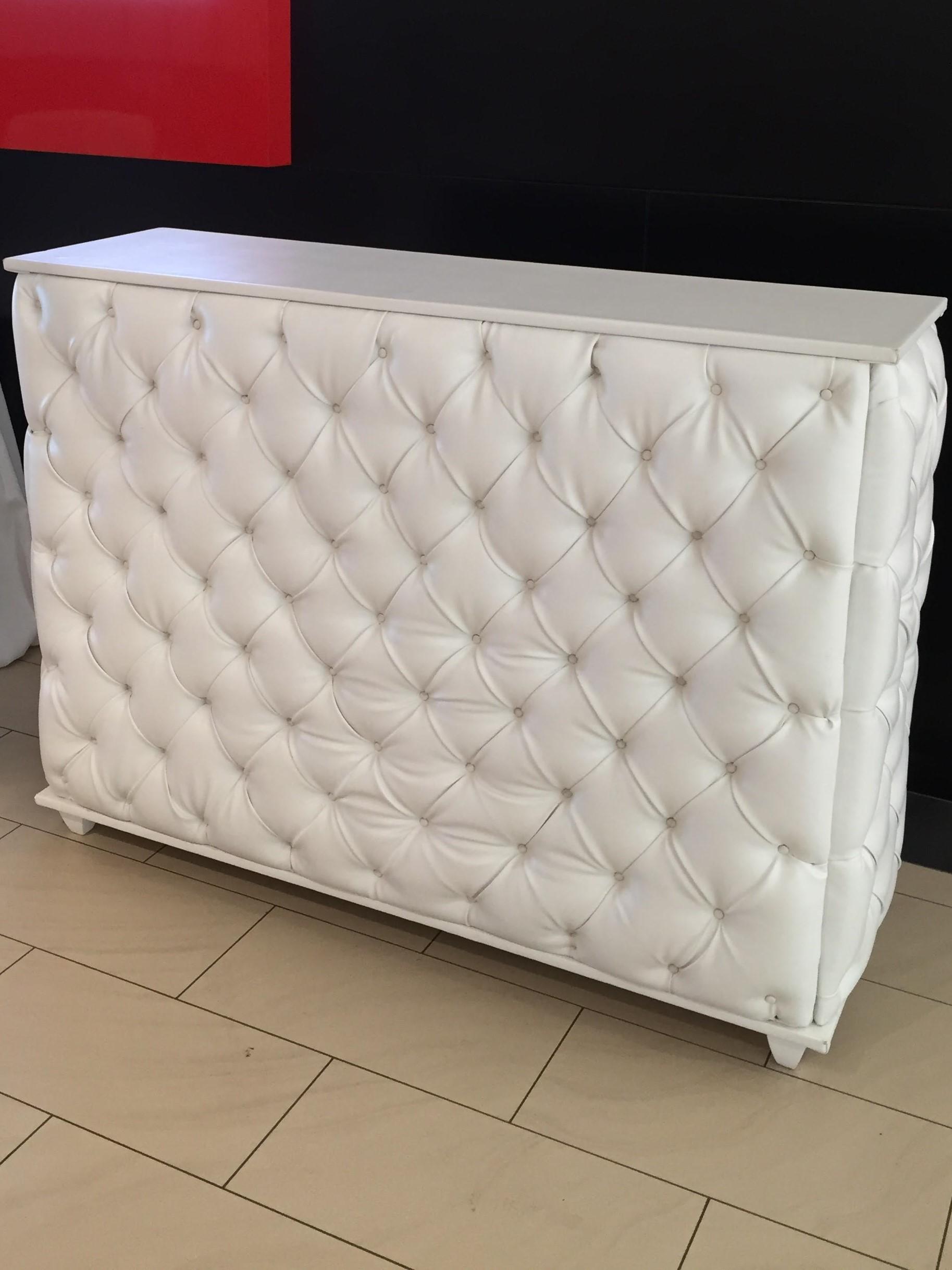 White tufted bar $195